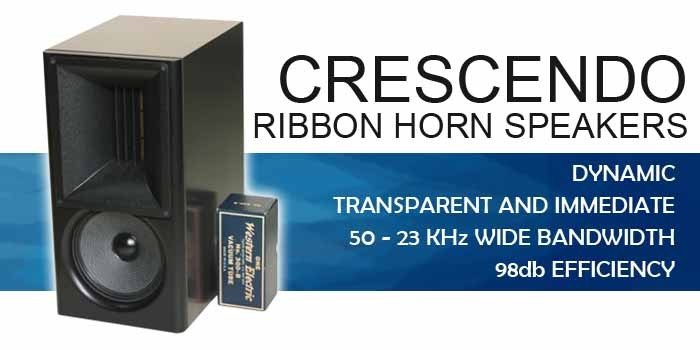 Crescendo High Efficiency 100db Horn Ribbon Speaker