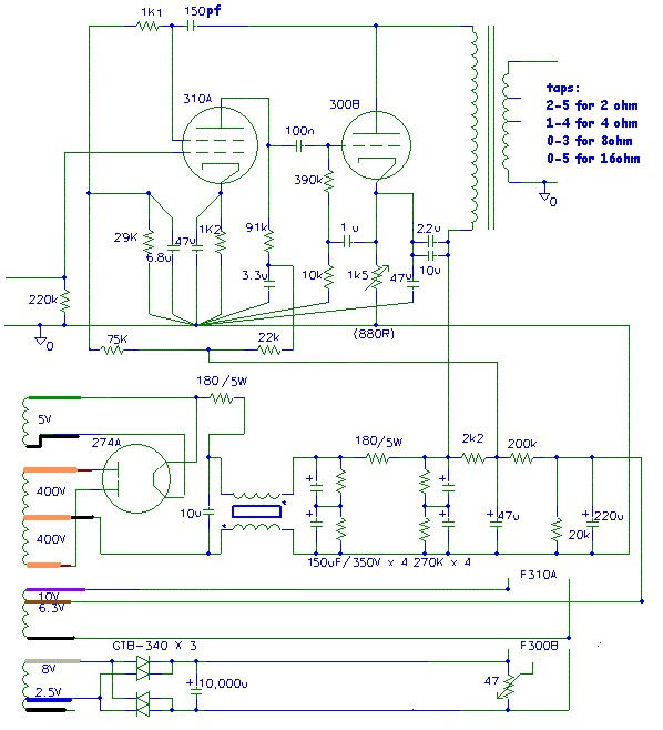 Ladyday Se 300b 91 Tube Amplifier  Circuit Diagram   U2013 Diy